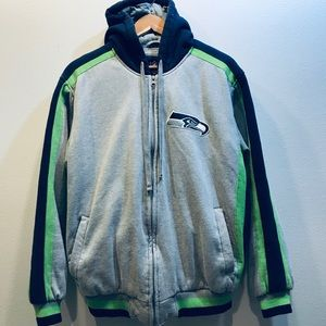 Awesome Quilted Seahawks Sweatshirt • Large